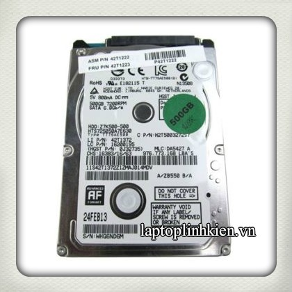 Ổ cứng HDD laptop 500GB 7200rpm Hitachi